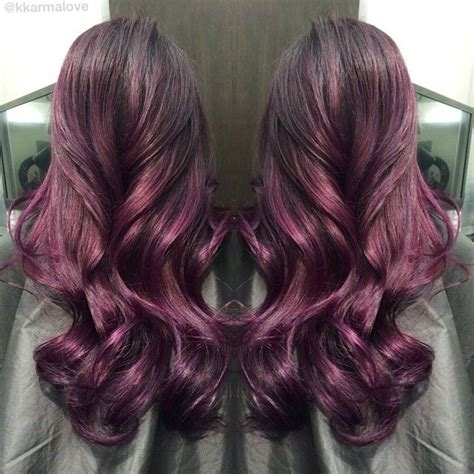 purple brown hair color discover and save creative ideas