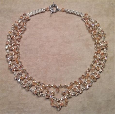 how to make jewelry with crystals classic necklace tutorial
