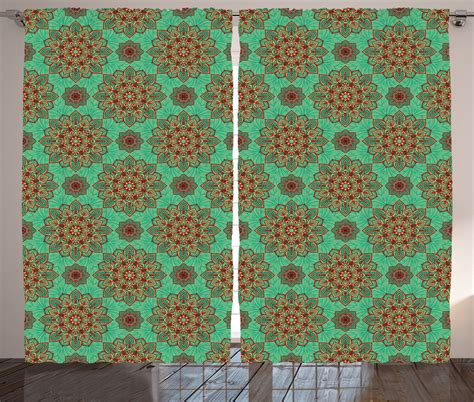 indian pattern curtains far eastern pattern mandala ethnic indian tribal art print