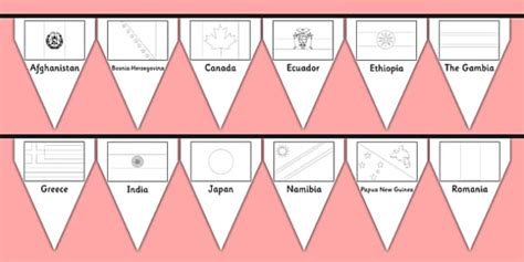 flags of the world twinkl flags of the world colouring bunting flags of the world