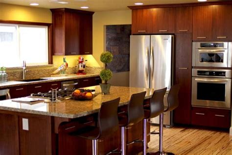 mahogany custom cabinets contemporary kitchen