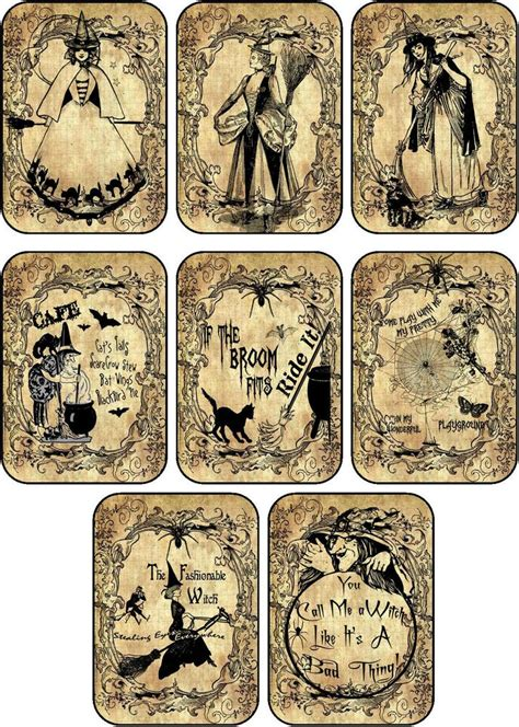 printable labels ebay halloween 8 witches labels stickers scrapbooking party