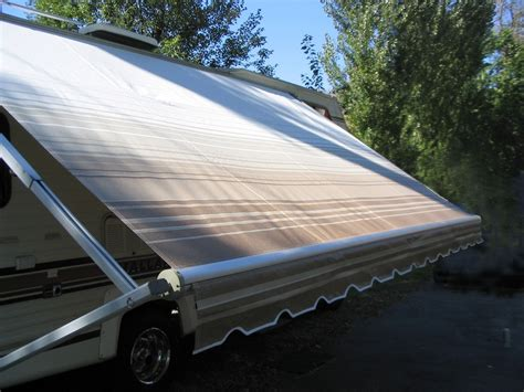 rv roll up awnings recovers new fabric for roll up awnings