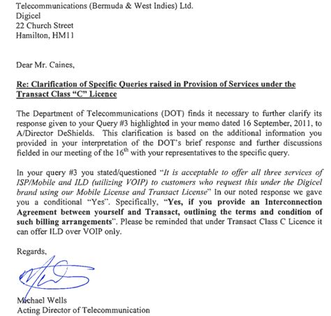 Release Letter From Employer In Saudi Arabia Digicel Responds To Minister Release Letter Bernews