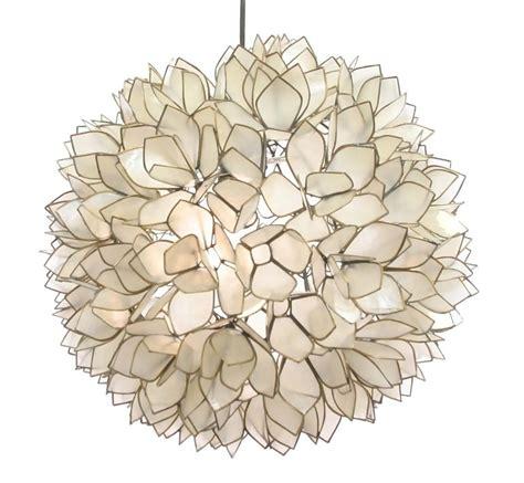 Capiz Lotus Chandelier Lotus Flower Chandelier By Roost Rol801