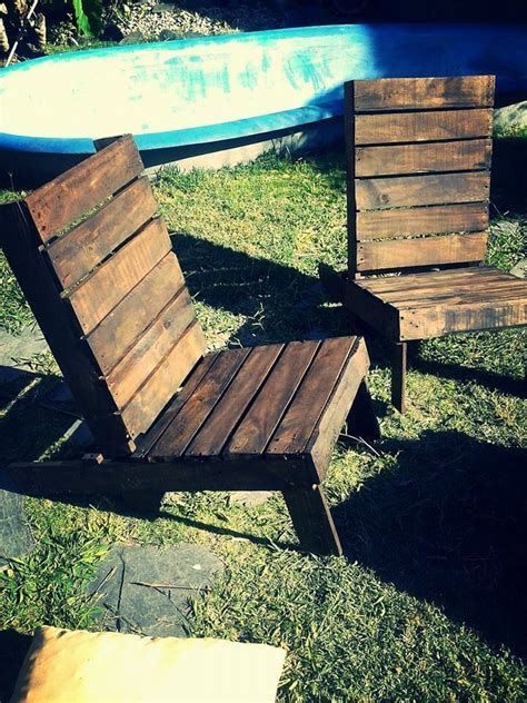 Handmade Wooden Outdoor Furniture - rustic pallet outdoor chairs and coffee table 99 pallets