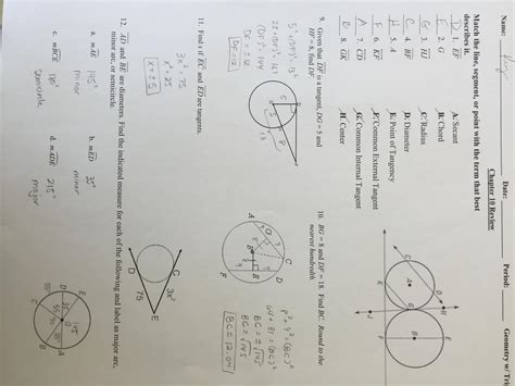 10 2 measuring angles and arcs worksheet answers free