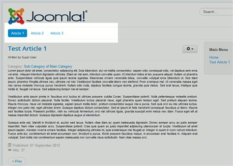 comment cr 233 er un menu horizontal dans joomla 3 5