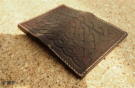 Leather Goods Pattern | card wallet with celtic knot pattern by frf leather goods
