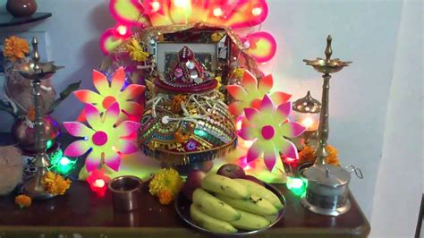garba or navratri garbo at home decoration at maa ambe