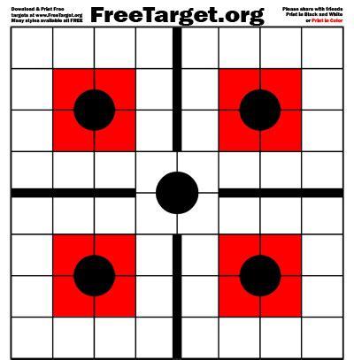 printable grid shooting targets black 5 dot 1 inch grid red sqr target freetarget org
