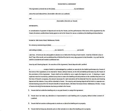 month to month lease template 16 room rental agreement template free word doc pdf