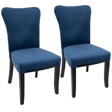 Navy Blue Dining Chair Lumisource Espresso And Navy Blue Dining Chair Set Of 2 Dc Olva E Nb2 The Home Depot