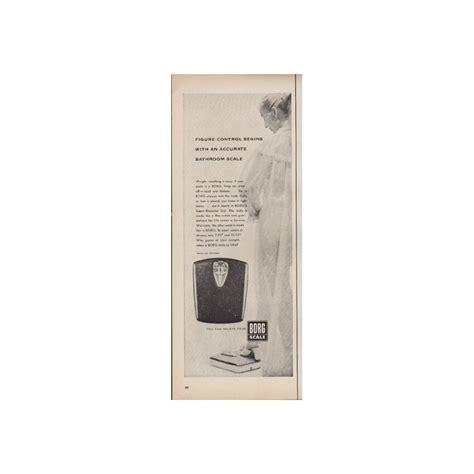 borg bathroom scale 1952 borg scale vintage ad quot accurate bathroom scale quot