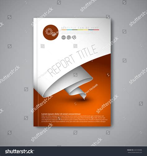 modern vector abstract brochure book flyer stock vector