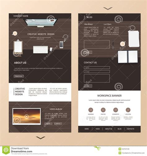 single page brochure templates psd 1 professional