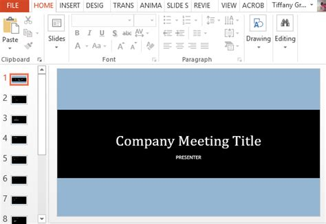 free project meeting powerpoint template