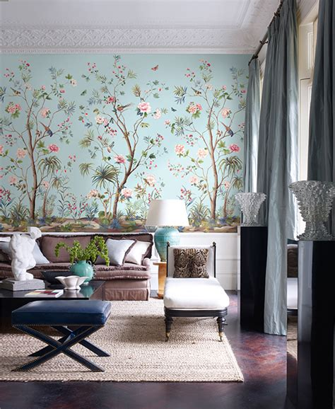 designing a wall mural designing interiors with chinoiserie inspired wallpaper
