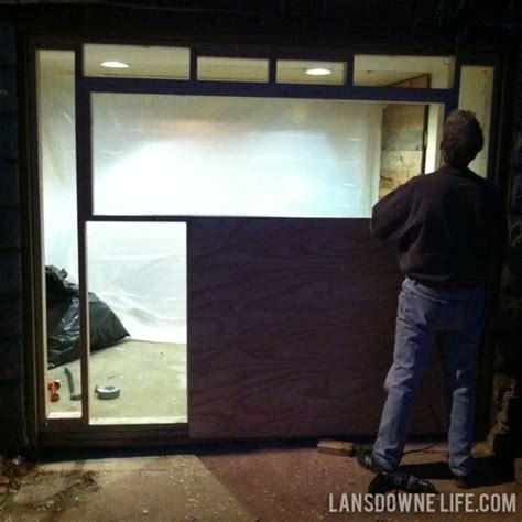 Replacing An Old Garage Door With A Wall Lansdowne Life Framing A Garage Door Opening