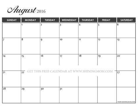 printable calendar 2016 pretty pretty printable calendars for august 2016
