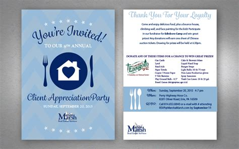 Realtor Client Appreciation Party Invitation Presque Isle Designs Llc Customer Appreciation Event Invitation Template