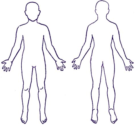 human body outline printable clipart best