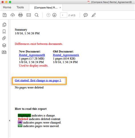 Acrobat Dc Compare Documents