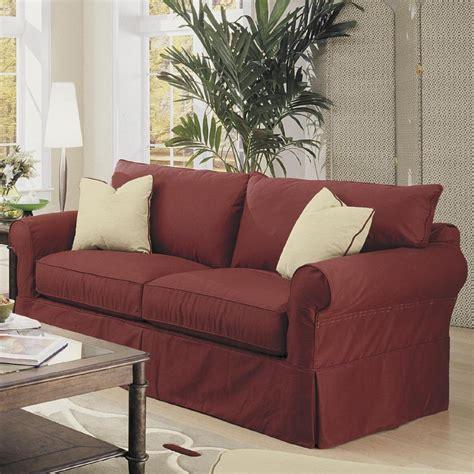 klaussner slipcover sofa klaussner jenny slipcover sofa with skirt vandrie home