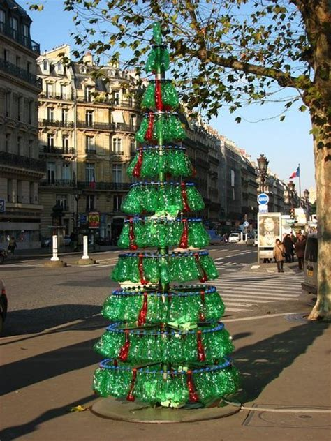 recycled bottle christmas tree photo