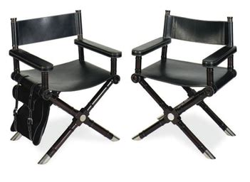 ralph leather directors chair a pair of metal mounted mahogany and leather director s