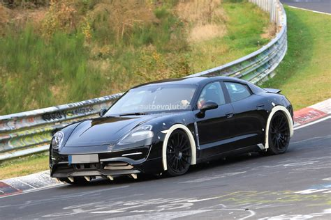 electric porsche spyshots 2019 porsche mission e electric sports sedan