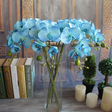 silk decor home accents artificial plants simulation decorative butterfly orchid