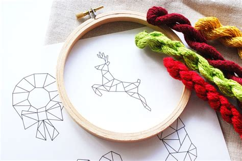 hands on crafts for christmas in the morning geometric embroidery patterns