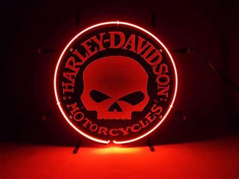 harley davidson neon light harley davidson motorcycles skull neon light sign harley