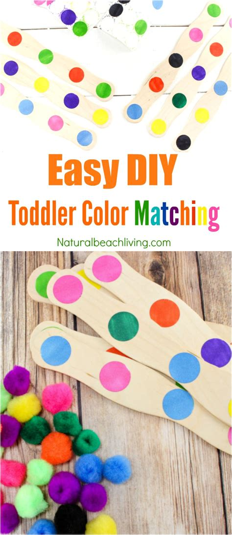 toddler color easy to make diy color activity for preschool toddlers
