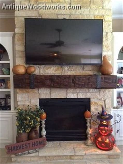 handmade fireplace mantel  iron double layer straps