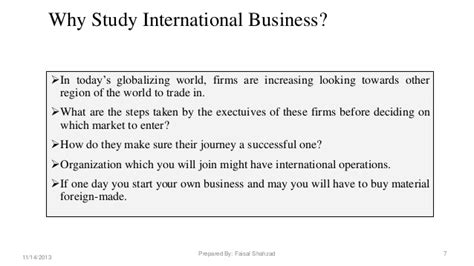 Study Guide For International Trade And The World Economy international business strategic management market entry modes choice