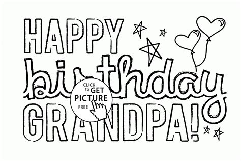 happy birthday coloring pages for grandparents happy birthday grandpa coloring page for kids holiday