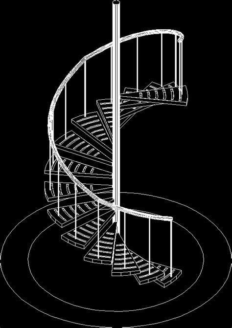 spiral staircase 3d dwg model for autocad designs cad
