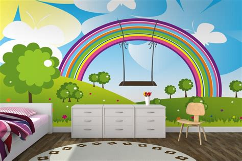 rainbow wallpaper for room 10 lovely wallpaper designs to adorn the child s room