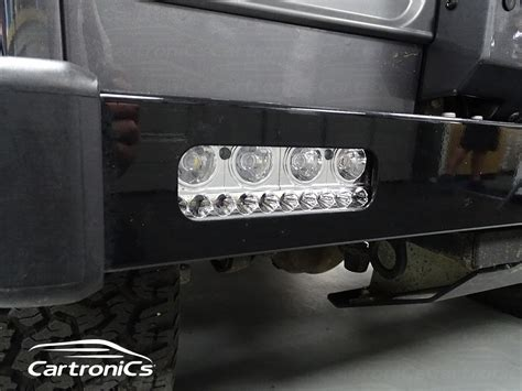 land rover defender bumper lights land rover defender light upgrade