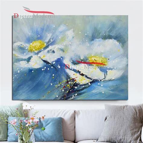 fiori moderni dipinti dipinti con fiori bianchi e gialli dipinti moderni