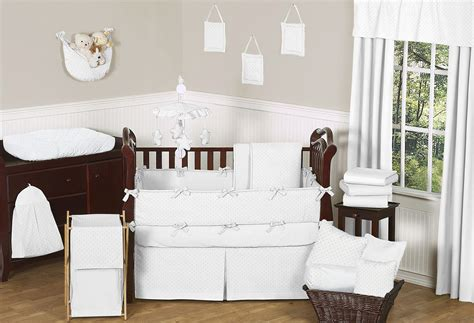 white nursery bedding sets solid white minky dot baby bedding 9 crib set by sweet jojo designs