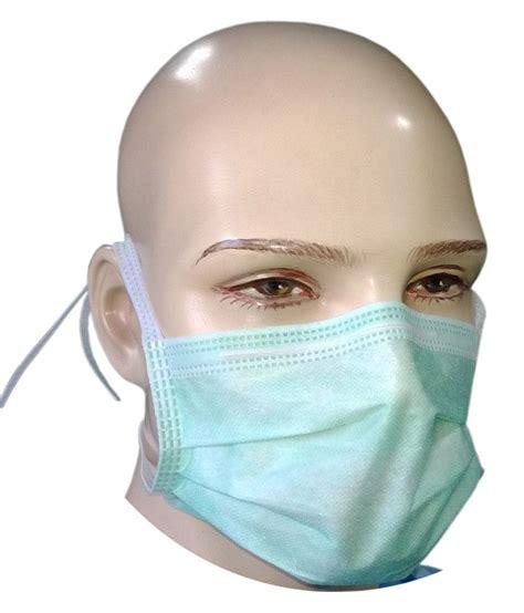 Masker Surgical Mask 1 filtra 3 ply tie on surgical mask green bfe gt 98 buy filtra 3 ply tie on surgical mask
