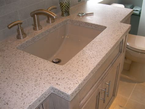 Concrete With Glass Countertop by Recycled Glass And Concrete Countertop
