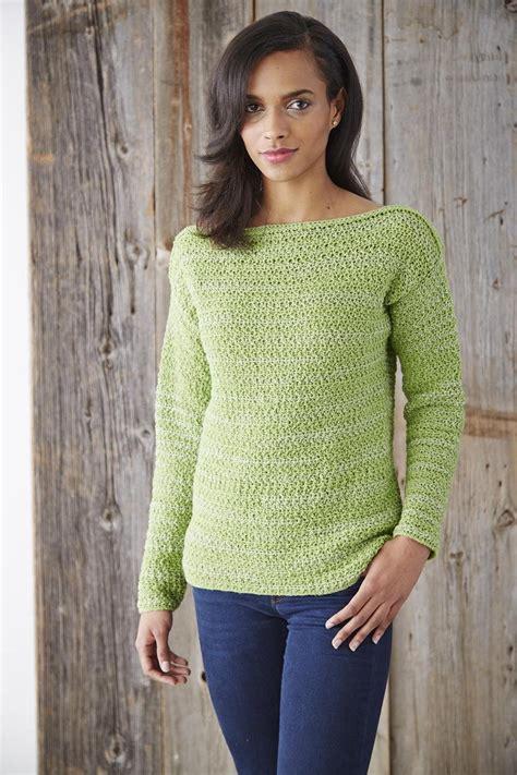 Boat Neck Sweater boat neck pullover sweater allfreecrochet