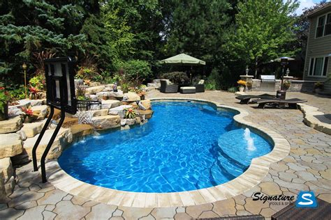 pool photos gemini model pool from trilogy pools signature fiberglass pools chicago swimming pool builder