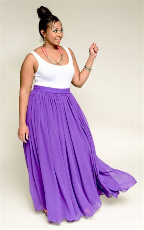 chiffon maxi skirt plus size 2014 2015 fashion trends