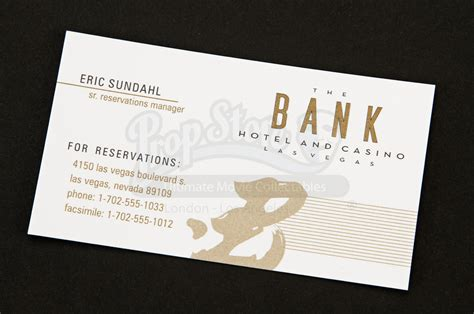 business card bank bank hotel and casino concierge business card prop store