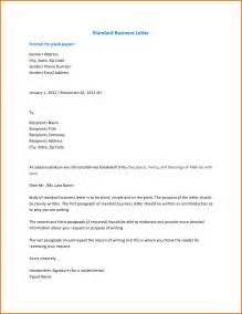 Business Letter Format 2017 Proper Standard Formal Sles Of Business Letter Format
